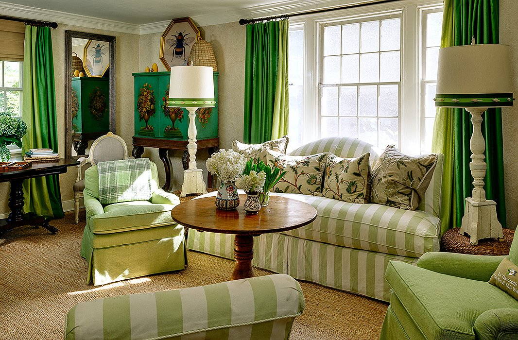 Curtains lime green