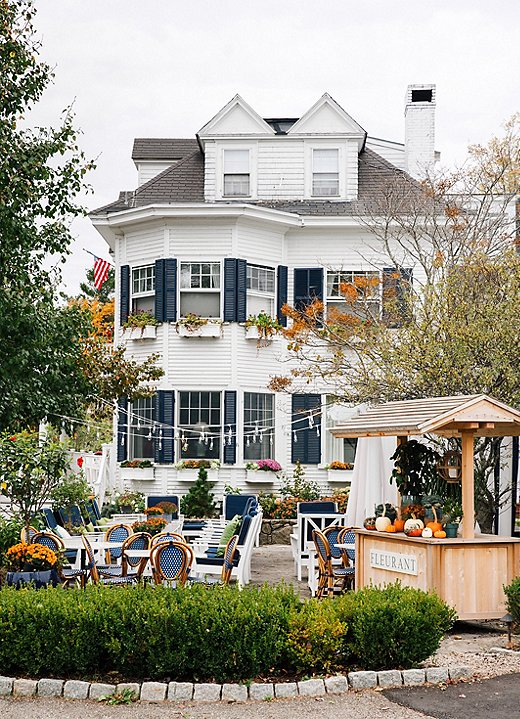 """""""The Kennebunkport Inn was built in the 1890s as a tea merchant's mansion,"""" Jackie says. """"Today, the hotel's central location right in the middle of Dock Square can't be beat—and neither can its cocktail patio."""""""