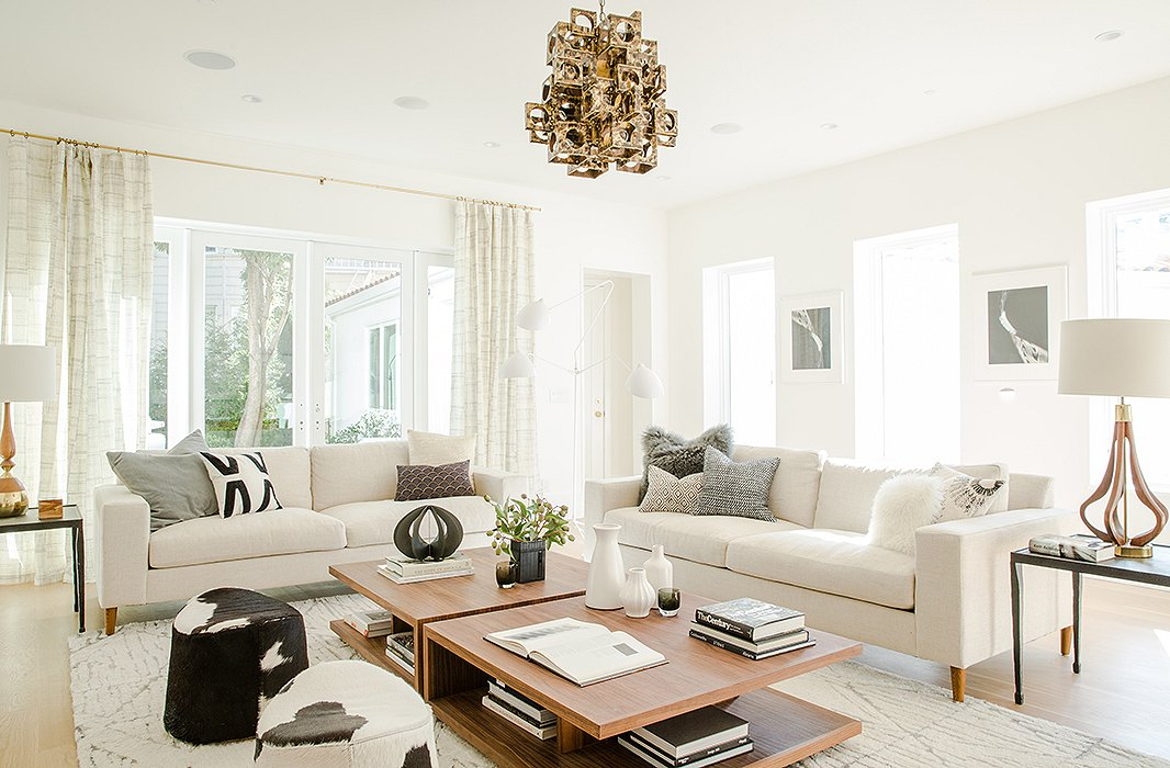 The family room was designed by Simone Howell.
