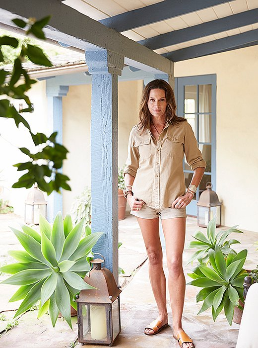 Kendall at her 1942 Mediterranean home in Santa Barbara. Photo by Victoria Pearson.