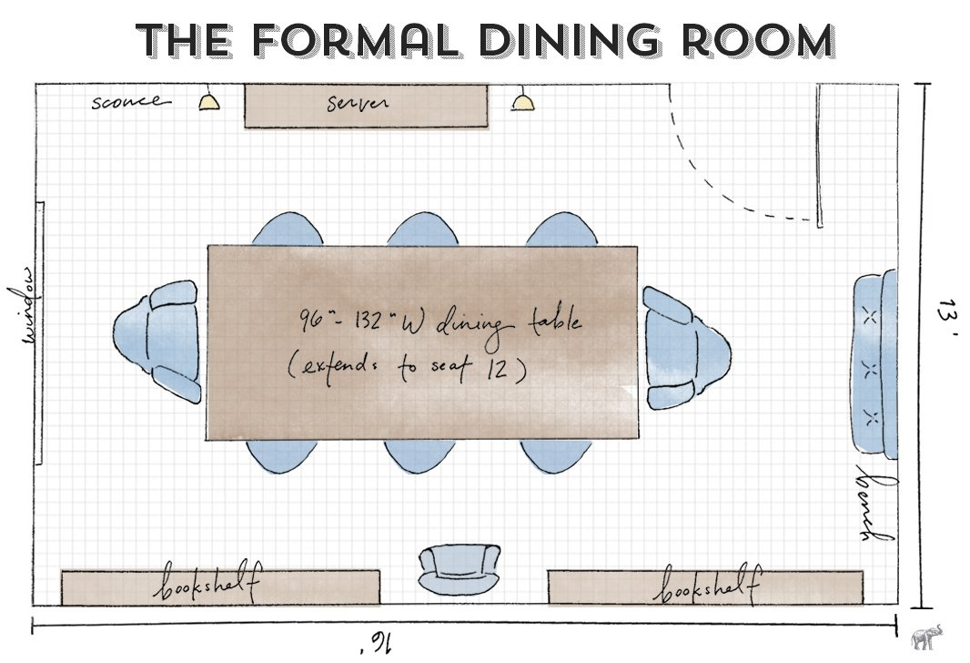 Open living room dining room furniture layout