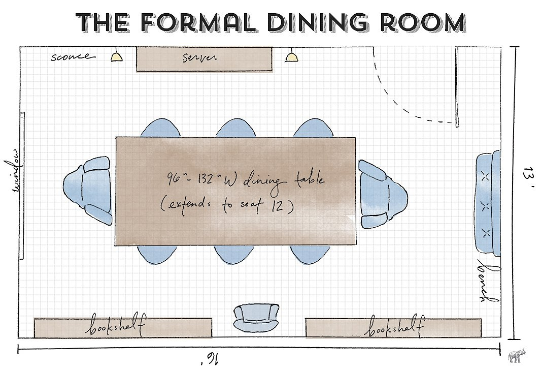 Dining room guide how to maximize your layout for What size dining table for 10x10 room