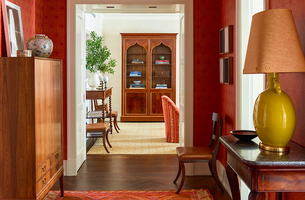 A hallway inNew York City, designed by Katie in 2015.