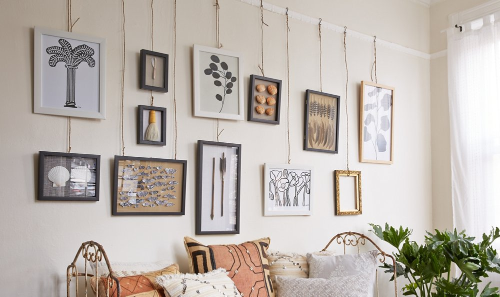 Hanging Wall Art Ideas two novel ideas for hanging art -- one kings lane