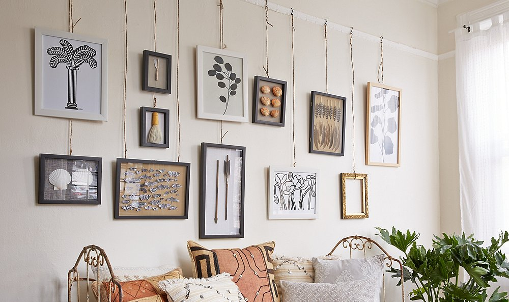 Two Novel Ideas for Hanging Art -- One Kings Lane