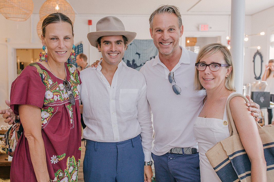 From left: Designer Katie Leede, Elle Decor editor in chief Whitney Robinson, designer Jeffrey Alan Marks, and publicist Sarah Boyd in the Southampton shop during brunch.