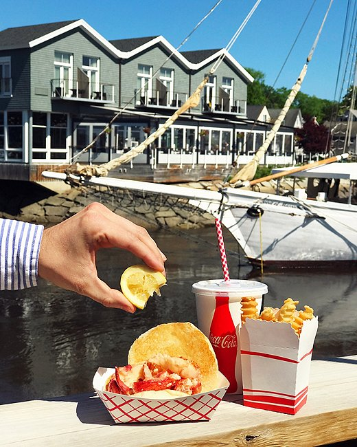 """For the """"classic Maine lobster shack"""" experience, make a beeline for Clam Shack, perched right on the main bridge in Dock Square."""