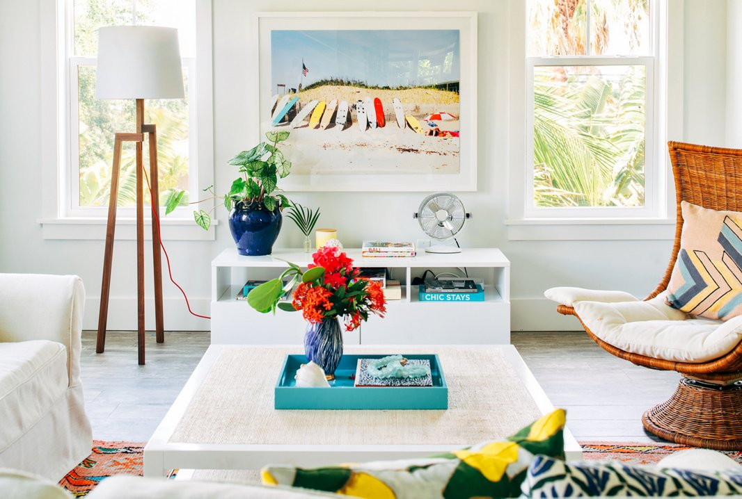"""This home has a lot of art that is beach themed, but instead of local beaches I focused more on beaches around the world,"" Hannah says. ""There are some Los Angeles surf photos, one from Hawaii, and another of the Amalfi Coast. I think it makes the house feel a little more eclectic and unpredictable."" The photo above is Ditch Plains by Natalie Obradovich."