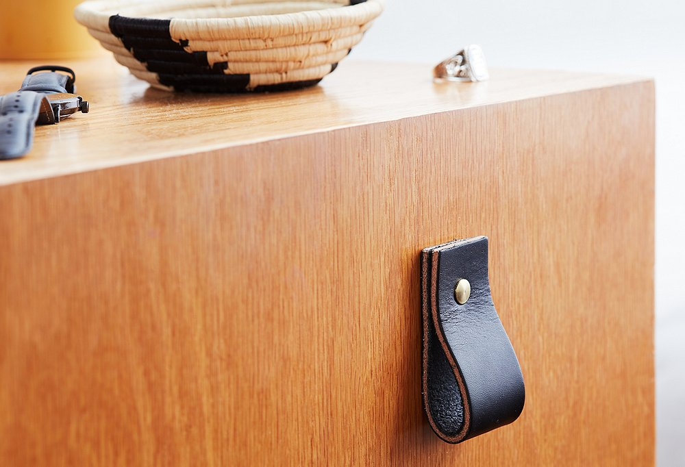 How to Create DIY Leather Drawer Pulls