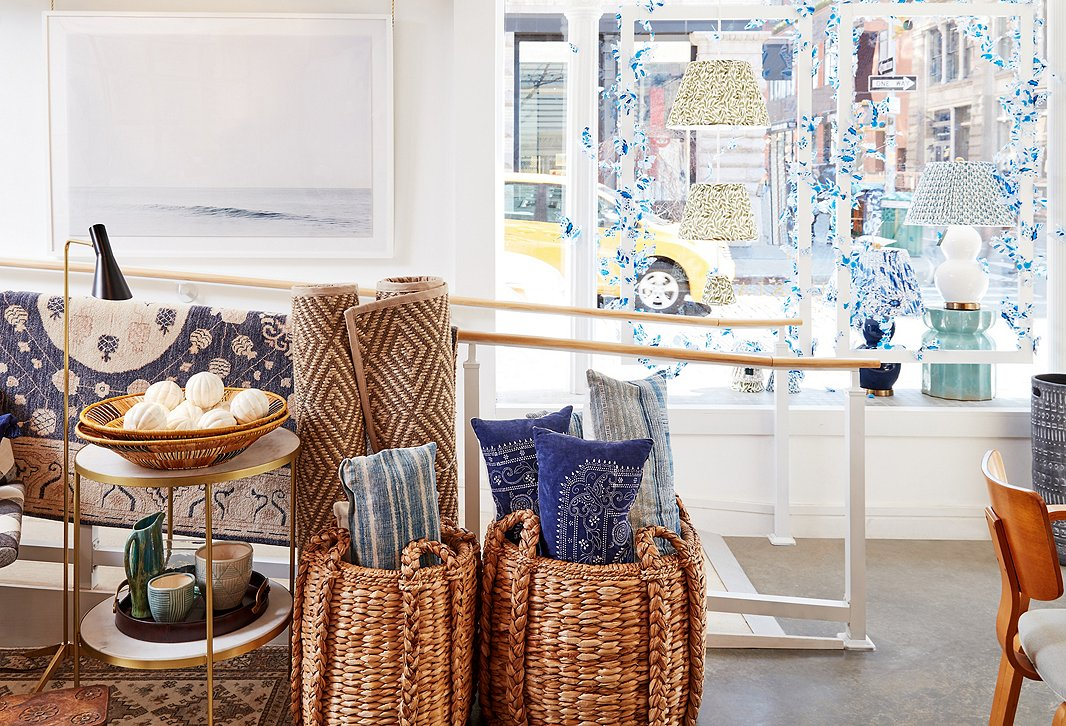 Inspired by the turn of the season, we've stocked the shop with finds made of natural fibers and in all hues of blue.