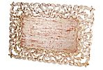 S/4 Vendome Place Mat Rect Silver Leaf