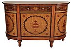 "English Adams 58"" Sideboard, Brown"