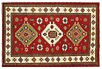 """6'8""""x9'10"""" Victoria Kazak Rug, Red"""