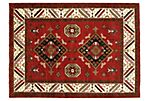 4'8''x6'6'' Atish Kazak Rug, Red