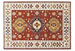 5'7''x7'10'' Latian Kazak Rug, Brown