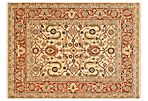 Cornish Rug, Ivory/Rust