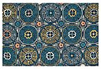 Wynette Outdoor Rug, Navy/Multi