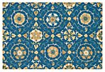 August Rug, Blue/Gold