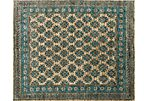 Naci Jute Rug, Blue/Brown