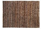 2'x3' Knotted Hemp Rug, Brown