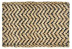 4'x6' Herringbone Jute Rug, Gray/Natural