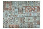 Patchwork Kilim Rug, Dusty Aqua