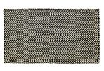 Rubin Jute Rug, Black/Bleach