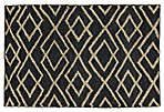 Fiona Jute Rug, Black/Bleach