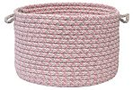 Tweed Wool Blend Baskets, Pink