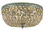 Richmond 3-Light Flush Mount, Aged Brass