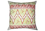 Marrakesh 18x18 Embroidered Pillow, Lime