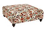 Veronica Ottoman, Orange/Multi