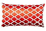 Moroccan 14x24 Embroidered Pillow, Red