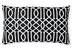 Jax 14x24 Embroidered Pillow, Black
