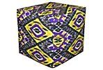 Marjorie Pouf, Purple/Yellow