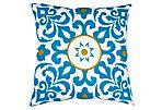 Oona 20x20 Cotton Pillow, Blue