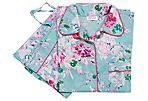 Adele Florals Pajama Set, Mint/Pink
