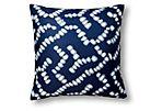 Geo 20x20 Outdoor Pillow, Blue