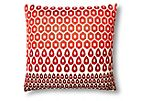 Megha 20x20 Cotton Pillow, Red