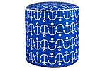 Anchor Outdoor Pouf, Blue