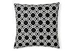 Ross 20x20 Outdoor Pillow, Black