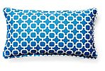 Holly 11x20 Outdoor Pillow, Blue