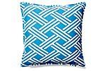 Isham 20x20 Outdoor Pillow, Blue
