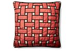 Woven 20x20 Pillow, Red