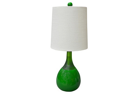 Cecile Table Lamp, Green