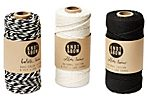 S/3 Non-Metallic Twine, Black/White