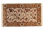"2'11""x4'11"" Agra Rug, Ivory/Gold"