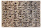 "9'x12'2"" Sari Wool Ballestas Rug, Gray"