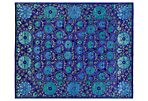 "6'4""x9' Turkomen Rug, Blue/Green"