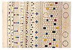 """6'2""""x9'1"""" Sari Wool Paqueta Rug, Ivory"""